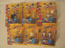 THE SIMPSONS NEW LOT OF 6 WORLD OF SPRINGFIELD INTERACTIVE FIGURES SERIES 8
