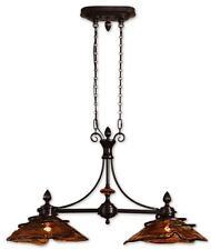 "New listing 42"" Wrought Iron Bronze Metal Kitchen Island Chandelier Brown Hanging Light"