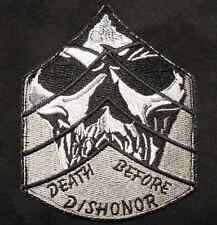 DEATH BEFORE DISHONOR CHEVRON SKULL ARMY SWAT VELCRO® BRAND FASTENER PATCH