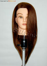 """*USA SELLER*  22"""" Cosmetology Mannequin Head 100% HUMAN HAIR ~ BEST DEAL"""