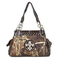 Realtree Women Camouflage Handbag Camo Faux Leather Large Shoulder Bag Day Purse