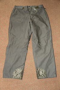 GERMAN ARMY GORTEX STYLE COLD TROUSER FUR LINED LEG ZIPS MILITARY WINTER