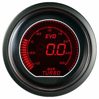 52mm Autogauge EVO Series Digital Led BOOST TURBO Meter Gauge Red / Blue - BAR