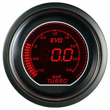 52mm Autogauge EVO Series Digital Led BOOST TURBO Meter Gauge Red / Blue - BAR