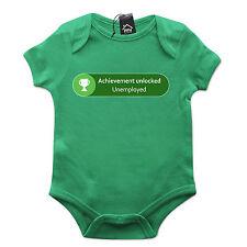 Achievement Unlocked Unemployed Geek Gamer Xbox Babygrow Baby Grow Newborn 538