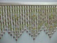 """5 TO 5.5 """"LONG- BEADED- FRINGE- TRIM- EXCELLENT-QUALITY-12"""