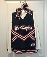 Red White Blue Cheerleader Uniform/Costume Dress Up/Halloween.  5 Pieces.