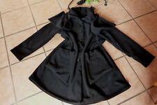 BORIS INDUSTRIES Fleece Mantel EDEL Schal-Kragen 48 50 EG NEU! schwarz LAGENLOOK
