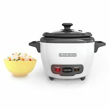 BLACK+DECKER RC503 Mini 3-Cup Cooked/15-Cup Uncooked Rice Cooker White