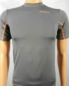 Youth NOMAD Spell Out Gray Polyester Hunting Jersey Shirt Sz YL NEW