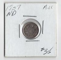 Canada 1907 5 Cents Five Cents 92.5% Silver King Edward - Almost Uncirculated!