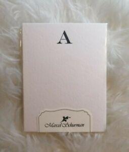 Marcel Shurman Letterpress Postcards Initial Blank Notelets 10 pack