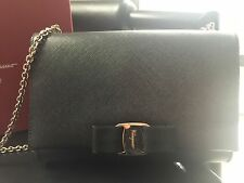 Authentic Salvatore Ferragamo Ginny Small Leather Shoulder bag