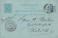Briefkaart 23 jan 1892 Arnhem-Rotterd II (kleinrond) naar Keulen