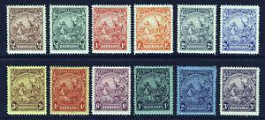 BARBADOS KG V 1925-1935 The Badge of Colony Set (ex. 2/6d.) SG 229 - SG 239 MINT