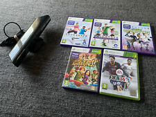 Microsoft Xbox 360 KINECT Motion Sensor Bar & 5 x Games, Your shape, Sports, Kid