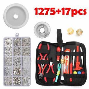 1292PC Repair Tools DIY Jewellery Making Kit Finding Pliers Starter Supplies Set