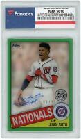 Autographed Juan Soto Nationals Baseball Slabbed Card Item#11278675