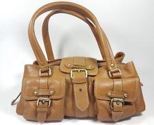 RI2K tan leather medium handbag  super condition