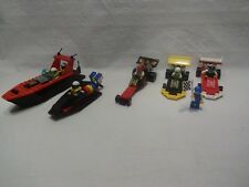 LEGO® City 1665 Dual FX Racers, 6526 Red Line Racer, 6537 Hydro Racer, 6679 Dark