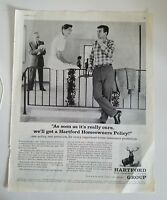 1959 Hartford Fire insurance company homeowners policy ad