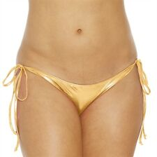 Lime Tie Side Mini Scrunch Bottom New Adult Women Sexy Valentine Gold One Size