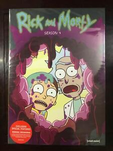 Rick and Morty Season 4 (DVD, 2-Disc) UK compatible  Slipcover Free Shipping New