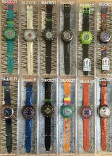 SWATCH Sammlung / Total 56 SCUBA Uhren / sehr selten aus dem Jahre 1993/94 / NEU