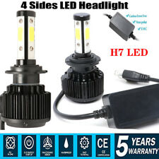 Pair Canbus H7 Car LED Headlight Kit Hi/Low Beam Bulbs 200W 16000LM 6000K White