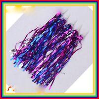 Bicycle Ribbons Purple Girls Pom Handlebar Streamers Tricycle Bike Tassels
