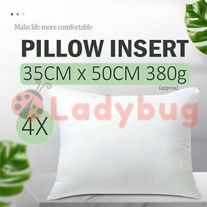 4x Memory Resistant Cushion Pillow Inserts Polyester Filling 35cmx50cm