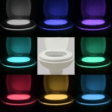 Toilet light night PIR motion led activated seat 8 color automatic sensing bowl.