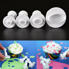 Cake Decorating Tool Oval Shape Plunger Cookie Biscuit Cutter Baking Mold 4PCS