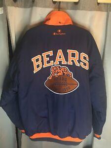 Rare Vintage Champion Chicago Bears Throwback Jacket Blue/Orange NFL Size: Large