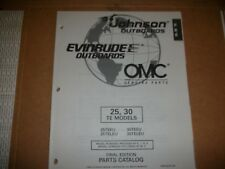 EVINRUDE OUTBOARD MOTOR BOAT ENGINE 25, 30 TE MODELS Illust. parts