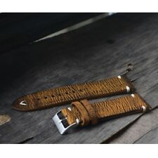 Straps Vintage Style Distressed Leather Wome/Men Watch Band Strap with Stitching