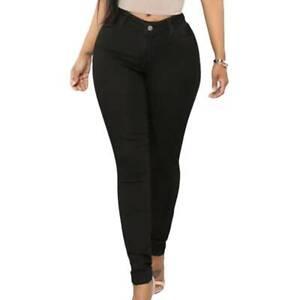 Women High Waist Skinny Slim Denim Jeans Ladies Stretchy Jeggings Pants Trousers