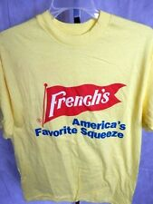 Nos Vintage Hanes French's America's Favorite Squeeze Mustard Tee Shirt Ad Men L