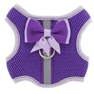 NEW Top Paw Reflective Dog Vest Harness XX Small Purple Girth 10-12 in with Bow