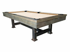 NEW 8ft Rustic Weathered Grey Pool Table w/ DINING TOP, FREE DELIVERY & INSTALL!