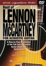 Best of Lennon & McCartney for Acoustic Guitar Signature Licks Dvd 000320333