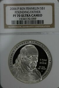 2006 P Ben Franklin S$1 Founding Father  PF 70 Ultra Cameo NGC