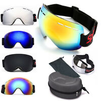 Ski Goggles Double Layers UV400 Anti-fog Mask Glasses Skiing Men Women Snowboard