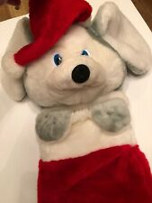Vintage Mithy Christmas Stocking Plush Mouse 22""