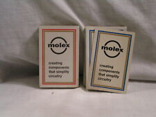 2 DECK OF MOLEX PLAYING CARDS ONE DECK IS STILL SEALED