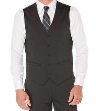 $98 Perry Ellis Men's Travel Luxe Techno Black Size-XS Slim-Fit Vest