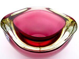 GIANT Murano Cenedese Art Glass UFO Space Age Vibrant Vessel A Da Ros & Label