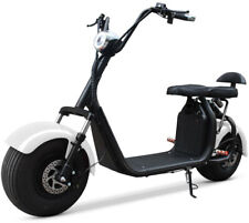 Double Seat 2000W 60V Wide Fat Tire Kick Electric Scooter Moped Bike 36A Battery