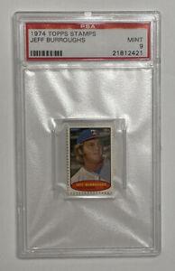 1974 Topps Stamps Jeff Burroughs PSA 9 MINT - POP 1!