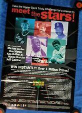 NHL 1996 UPPER DECK MEET THE STARS ADVERTISING POSTER 31X22 (originally folded)